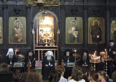 """Сърдечен поздрав от децата за високите гости - храм """"Св. Троица"""""""